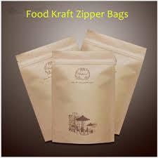 Generic Packaging Snack Food Bag Of Biscuits Coffee Beans Powder Kraft Paper Self Styled
