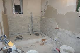 bathrooms are getting tiled beating upwind