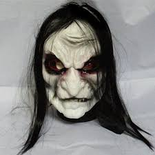 Halloween Scare Pranks by 2015 Long Hair Devil Full Head Halloween Mask Scary Ghost Cosplay