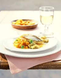 Pumpkin Gnocchi Recipe by Perch Fillet With Pumpkin Gnocchi And Pesto Recipe Eat Smarter Usa