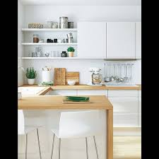 cuisine blanche design awesome cuisine en bois blanc contemporary lalawgroup us