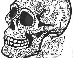 10 Sugar Skull Day Of The Dead ColoringPages By OneCuriousHuman