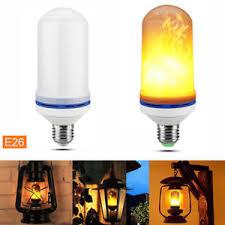 1 2pcs led effect light bulb e26 flickering l