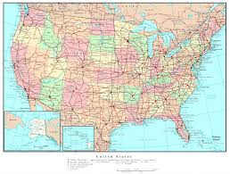 Us Map High Resolution Free In Highways Of The Usa Refrence States And Cities Road Maps United