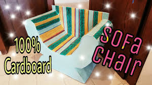 DIY Cardboard Furniture Cardboard Chair Sofa how to make