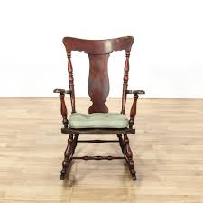Antique Early American Splat Back Rocking Chair | Loveseat ...