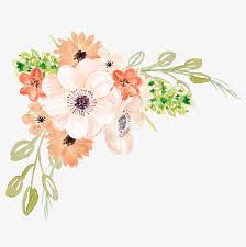 Watercolor Flowers Cartoon Hand Painted PNG Image