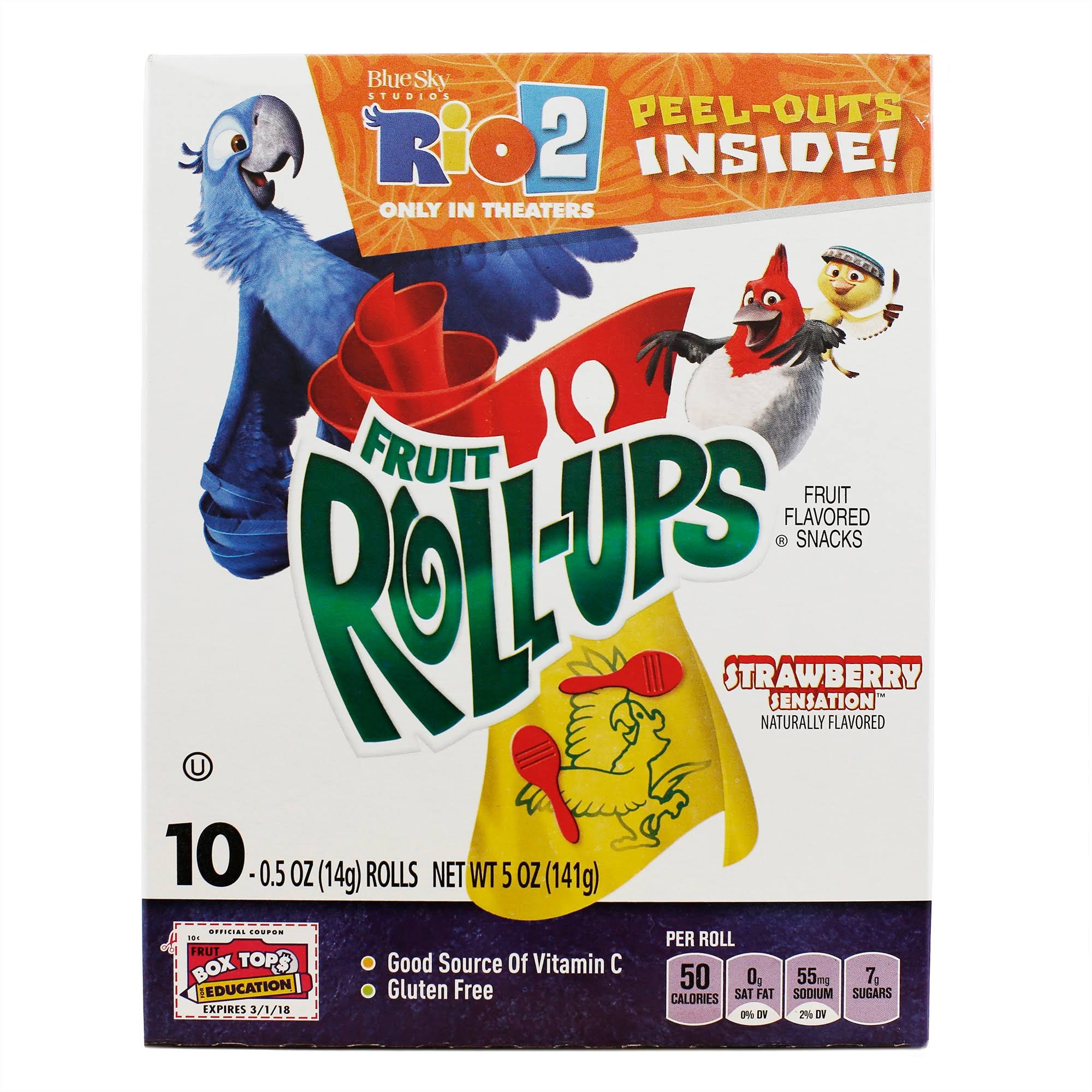 Fruit Roll-Ups Strawberry Sensation Fruit Flavored Snacks - 0.5oz, 10ct