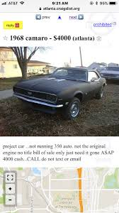 100 Atlanta Craigslist Car And Trucks By Owner Chevrolet Camaro Questions How Many 1968 Rs Ss Cameros Were