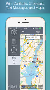 To Print for printing documents Web pages pictures photos contacts messages and maps on the App Store