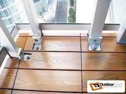 Runnen Floor Decking Outdoor Brown Stained by Teak Wood Plastic Composite Deck Tiles On Toronto Balcony 2016