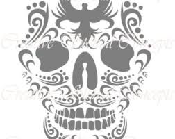 Sugar Skull Pumpkin Carving Patterns by Sugar Skull Clipart Pumpkin Stencil Pencil And In Color Sugar