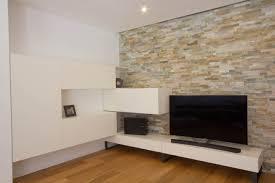 wohnzimmer mit stein wohnwand listberger tischlerei