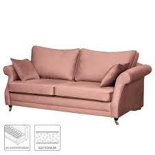 maison belfort sofa killara 3 sitzer mauve samt 230x70x95