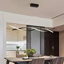 led pendelleuchte hoehenverstellbar esstisch esszimmer len dimmbar deco hängele fernbedinung modern design metall acryl schirm lüster für