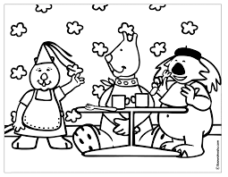 Coloring Pages Breakfast Breadedcat Free And Printable