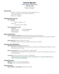 Sample Resume For Summer Job First Examples Beautiful Template Student Jo