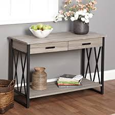 Metro Shop Seneca XX Black Grey Reclaimed Wood Sofa Table