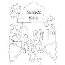 The Animal Zoo Trainer With Animals Coloring Pages
