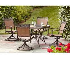 7 Piece Patio Dining Set by Outdoor 7 Piece Patio Dining Set With Swivel Chairs Home And