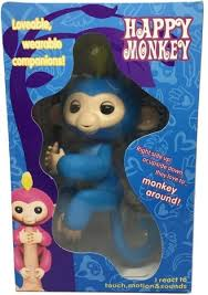 Fingerling Interactive Monkey Sound Finger Motion Toy Pet Blue