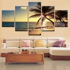 3d landschaft tieremuster 5tlg leinwand wandbilder malerei