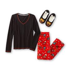 Joe Boxer Womens Christmas Pajama TShirt Pants Santa Baby