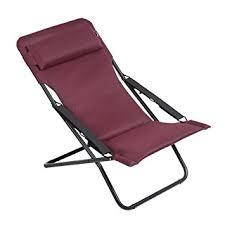 chaise bordeaux lafuma chaise longue pliable et réglable transabed air comfort