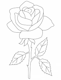 Rose Petals Flower Coloring Page