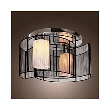 lightinthebox black semi flush mount with 2 lights mini style