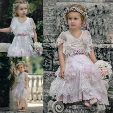 Lovely Lace Boho Flower Girl Dresses Special Occasion For Weddings