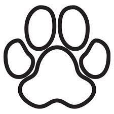 Brown Paw Print Cut And Lay Out
