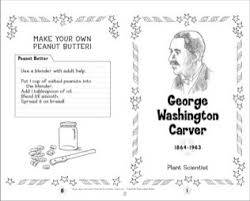 George Washington Carver Famous American Mini Book