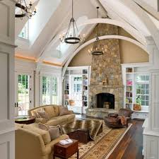 Living Room With Fireplace And Bookshelves by Fireplace Bookshelves Vaulted Ceiling Picturesque Collection
