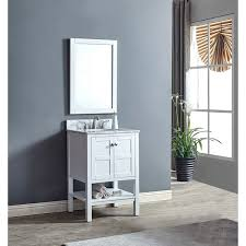 heritage maddox white single sink vanity with marble top free