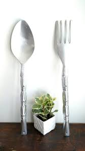 Wood Fork And Spoon Wall Hanging by Die Besten 25 Fork Spoon Wall Decor Ideen Auf Pinterest