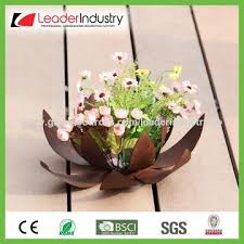 China Metal Garden Product Hanging Flower Pot With Rustic Color Finished OEM Orders Welcome