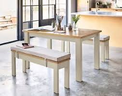 NEXT Kendall Painted Bench Set 4 SEATER DINING
