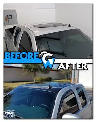 2013 Chevy Silverado Gloss Black Roof Vinyl Wrap | Before + After ...