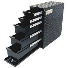 100 Black Truck Box 48 Storage Drawers Wel Bilt Locking Sliding Drawer