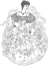 Creative Haven Art Nouveau Fashions Coloring Book