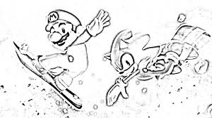 Mario And Sonic Pictures To Color