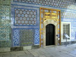 topkapi palace wall with iznik tiles turkish