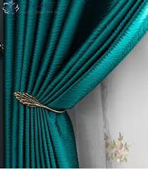 dunkelgrün künstliche seide high präzision vorhang shading custom light luxus nordic moderne minimalistischen wohnzimmer schlafzimmer