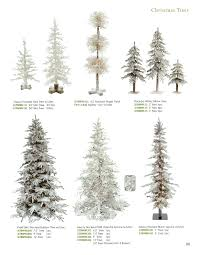 Slim Flocked Xmas Tree by Catalog X5 Topiary U0026 Christmas Trees