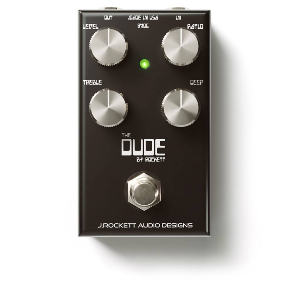 J Rockett Audio Designs The Dude V2 Overdrive Guitar Effects Pedal - Black