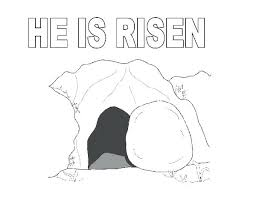 Full Image For The Tomb Where Jesus Rise In Resurrection Coloring Page Of