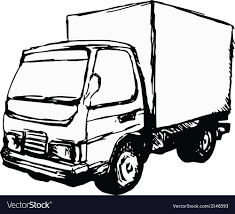 Small Truck Royalty Free Vector Image - VectorStock