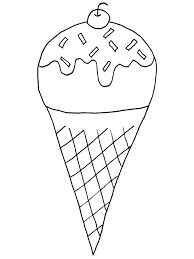 Ice Cream Coloring Pages 1