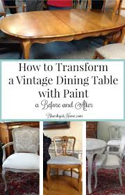 How To Transform A Vintage Dining Table With Paint ~ Bluesky At Home Shop Medley Mid Century Grey Upholstered Ding Room Captain Chair Oval Wood Tbl W6 Ladderback Chrs 2 Cool Wooden Luxury Restaurant Leather Seat Intertional Concepts Unfinished Set Of C61p Pedestal Chairs Charmcitymodsvsrockerscom Four Foster Mcdavid High Back Chairs Chairish A Rare Yew Captains C 1880 250175 Sellingantiquescouk Solid Oak Antique Spindle Black Walnut By George Nakashima Studio Loon Peak Rivas With Laser Five 5 Splat Comb Windsor